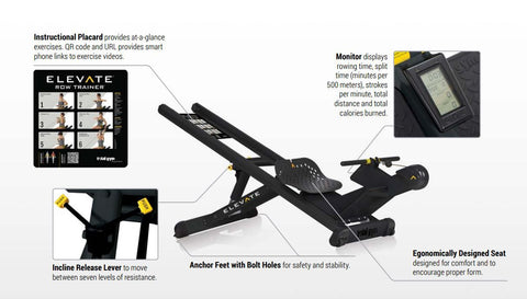Total Gym ELEVATE incline rowing machine - Barbell Flex
