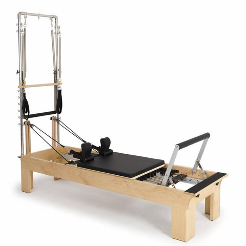 Elina Pilates Physio Wood Reformer with Tower - Barbell Flex
