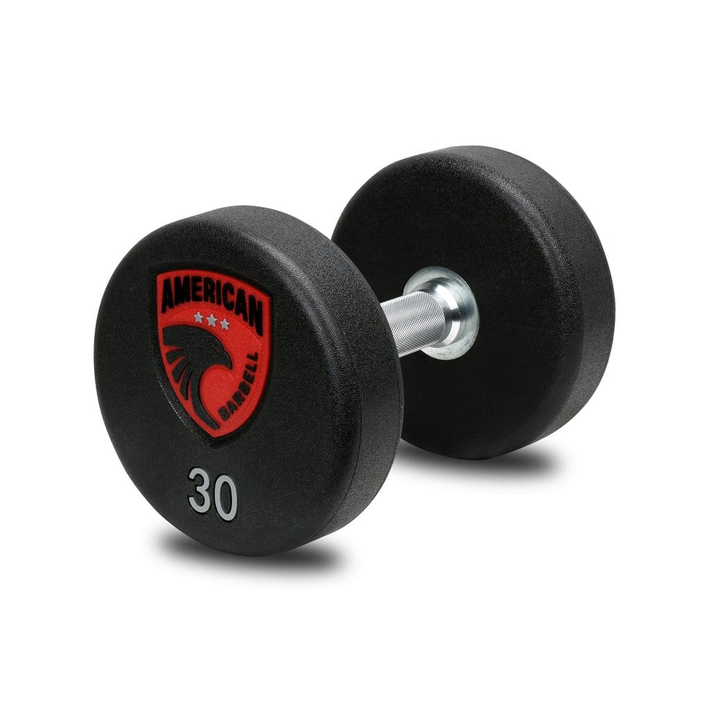 American Barbell Series 4 Urethane LB Textured Dumbbells Pairs and Sets - Barbell Flex