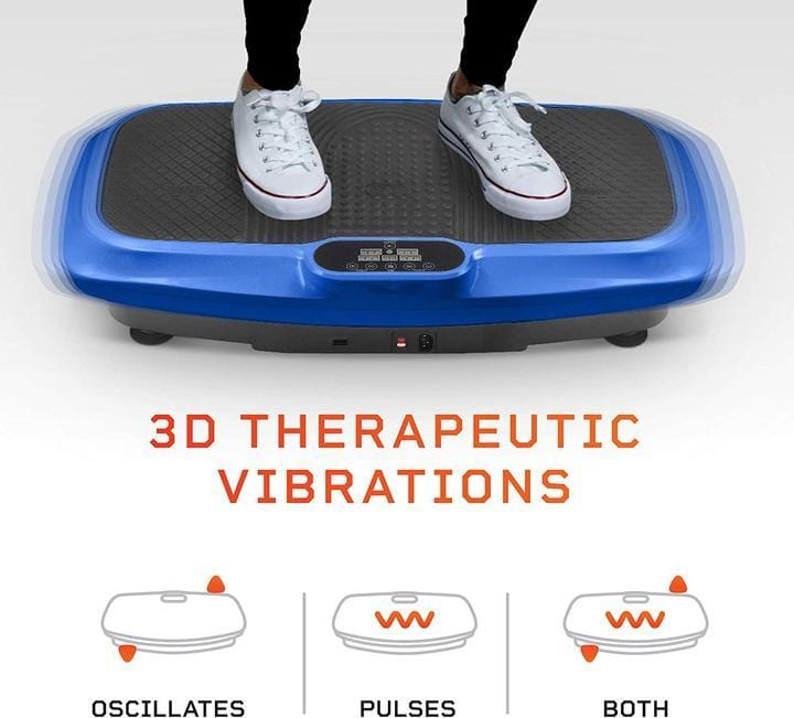 Lifepro Turbo 3D Vibration Plate Body Exercise Workout Equipment Machine - Barbell Flex
