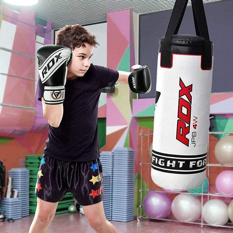RDX 4W 3-in-1 2-Foot Robo Kids Punch Bag with Gloves Set - Barbell Flex