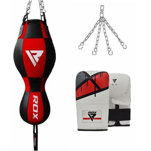 RDX 3 in 1 Punching Bag and Mitts Set - Barbell Flex