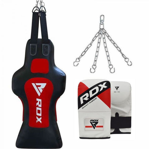 RDX TDR 3-in-1 Hanging Filled Face Punch Bag and Mitts Set - Barbell Flex