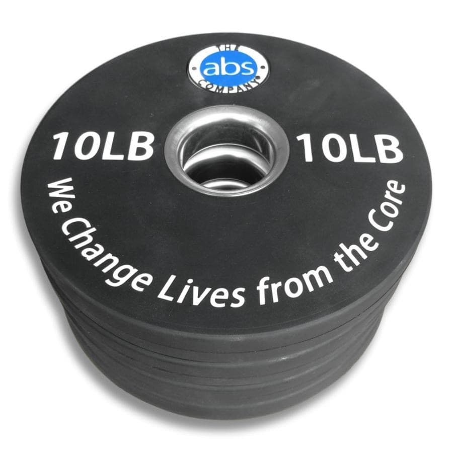 The ABS Company 10LB Olympic Weight Plates - Barbell Flex