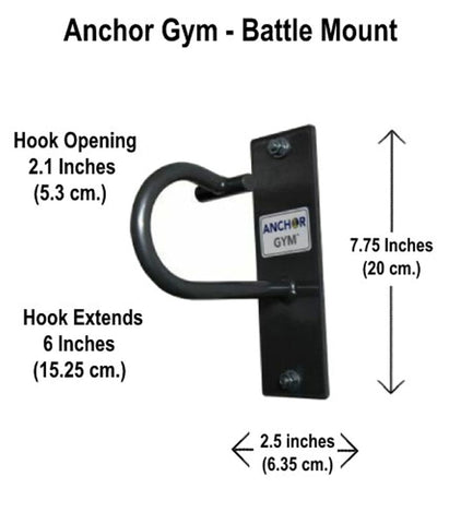 Core Energy Fitness Battle Rope Strap Band Oversized Wall Mounted Hook - Barbell Flex