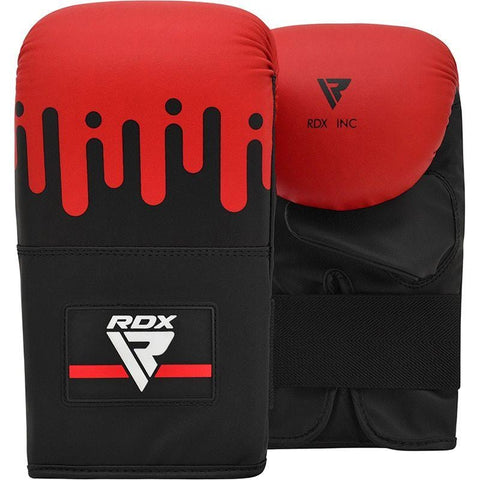 RDX F9 Black and Red Boxing Bag Mitts - Barbell Flex