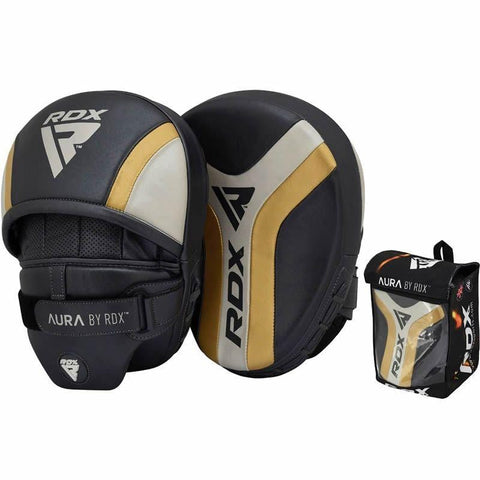 RDX Aura Pro Boxing Training Curved Punch Mitts - Barbell Flex