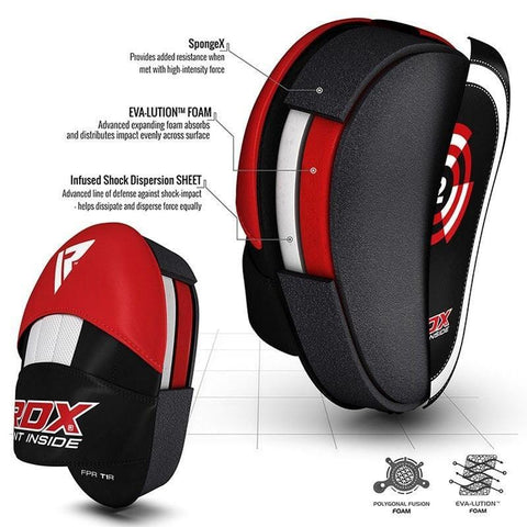 RDX T1 Focus Protective Shield Pads Boxing Mitts - Pair of 2 - Barbell Flex