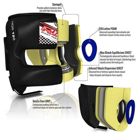 RDX T2 Head Guard with Nose Protection Bar - Barbell Flex