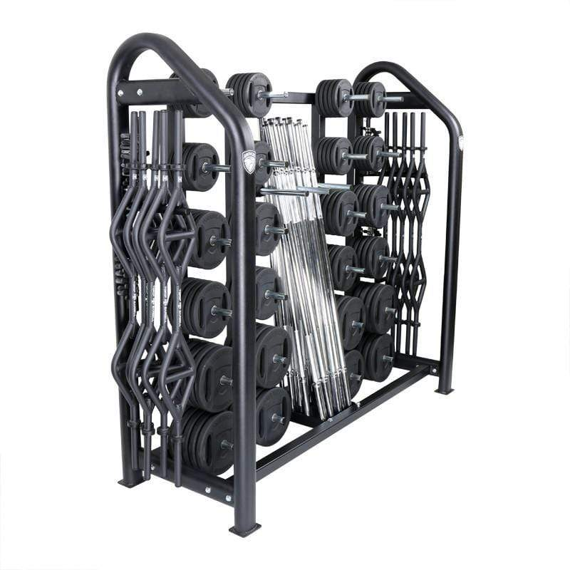 American Barbell 20-User Club Strength Training Class Pack with Storage Rack - Barbell Flex