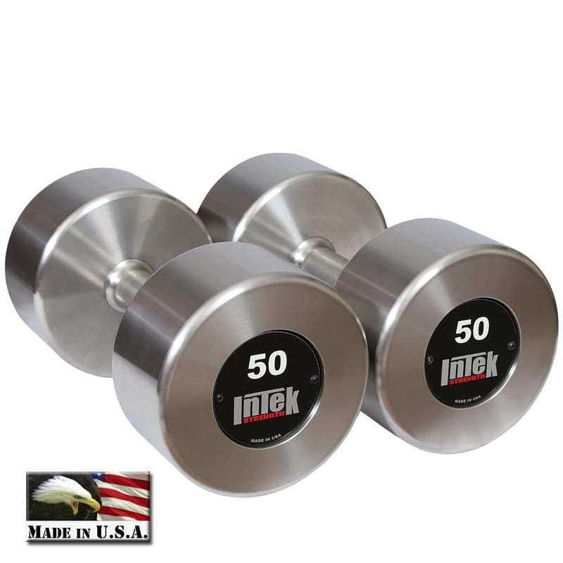 InTek Strength Delta Series Stainless Steel Dumbbell Pairs and Sets - Barbell Flex
