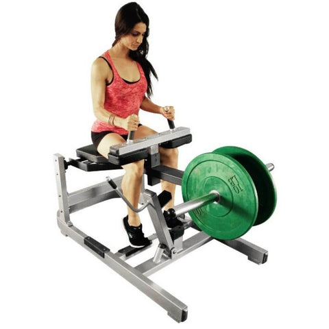 Muscle D Fitness Power Leverage ISO-Lateral Seated Calf Machine - Barbell Flex
