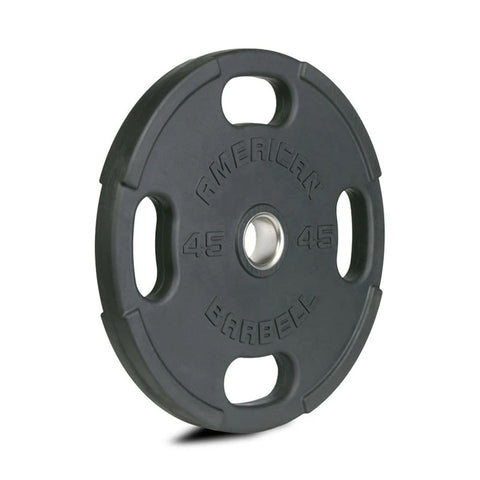American Barbell Rubber Olympic 4-Grip Hole Plate Pairs - Barbell Flex