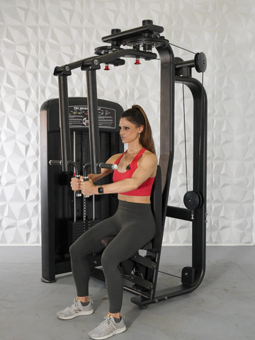 Muscle D Fitness Elite Commercial Pec Deck Fly and Rear Delt Machine - Barbell Flex