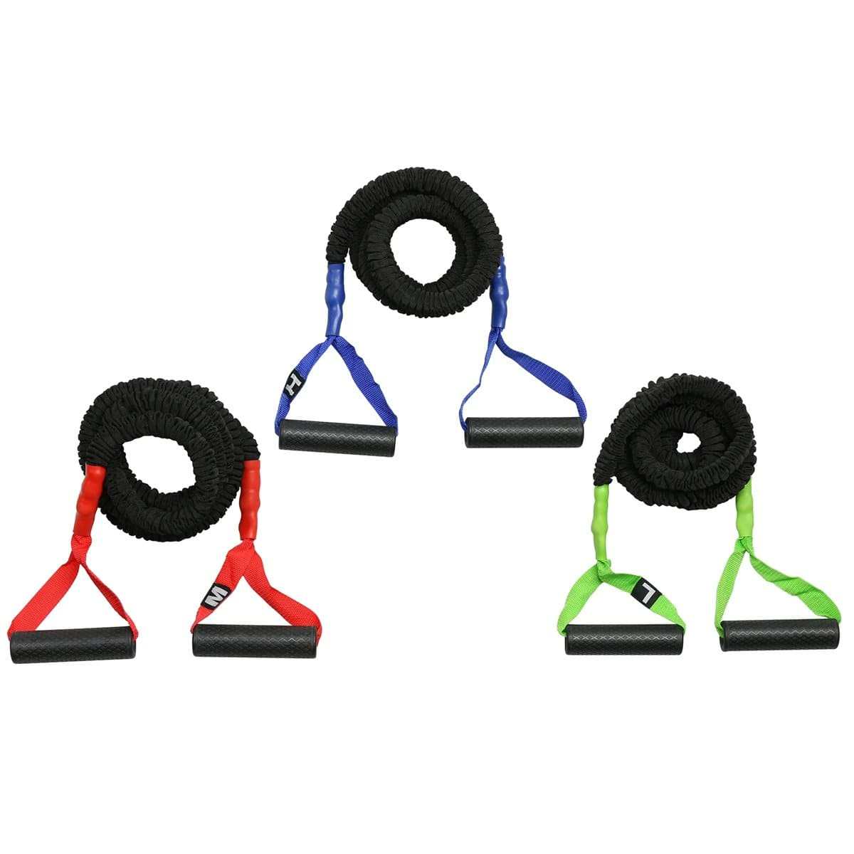 American Barbell Color Resistance Tubes With Handles - Barbell Flex