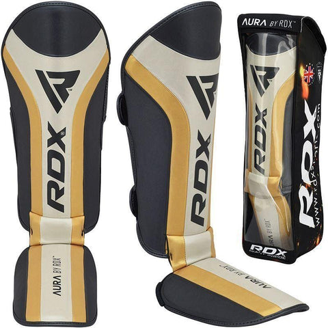 RDX Aura MMA and Kickboxing Shin Instep Padded Protection Guard - Barbell Flex