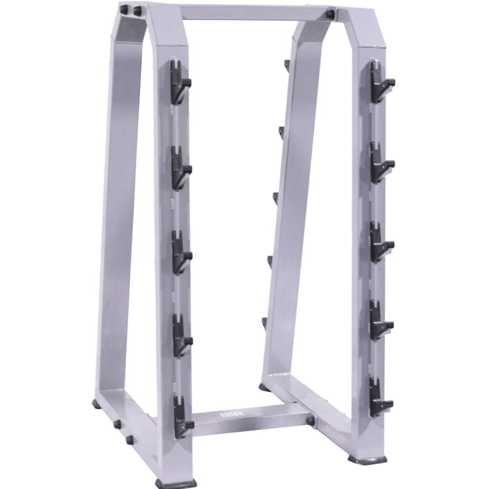 Fixed Weight Two-Sided 10-Barbell Storage Rack - Barbell Flex