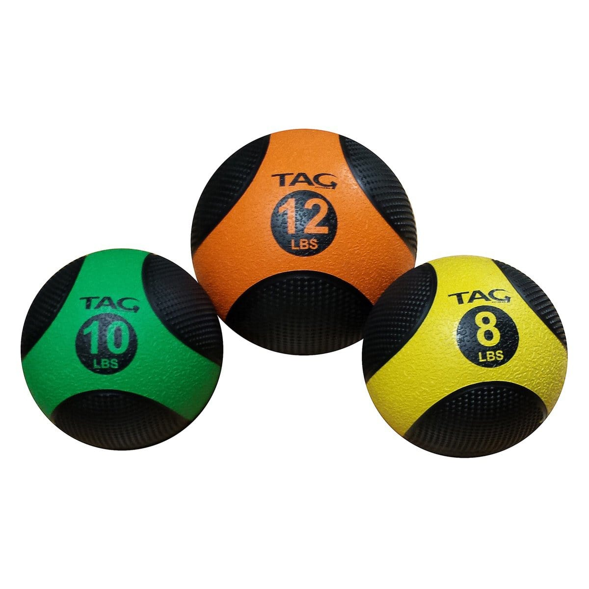 TAG FITNESS Deluxe Textured Grip Strength Training Medicine Ball - Barbell Flex
