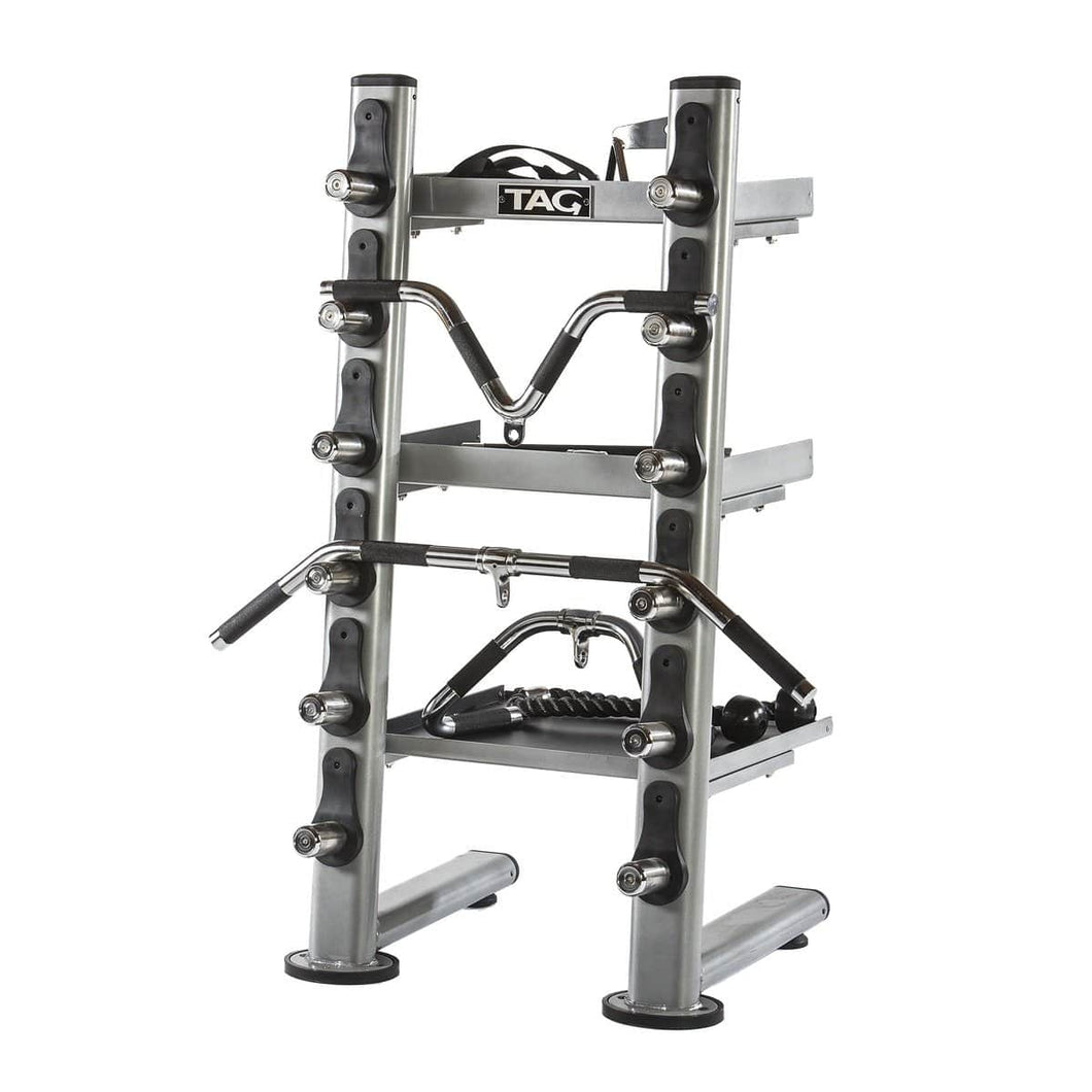 TAG Fitness Gym Accessory Attachment Tray Storage Rack - Barbell Flex