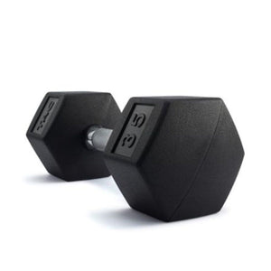 TAG Hex Fitness Exercise Rubber Encased Dumbbell Pair -Barbell Flex