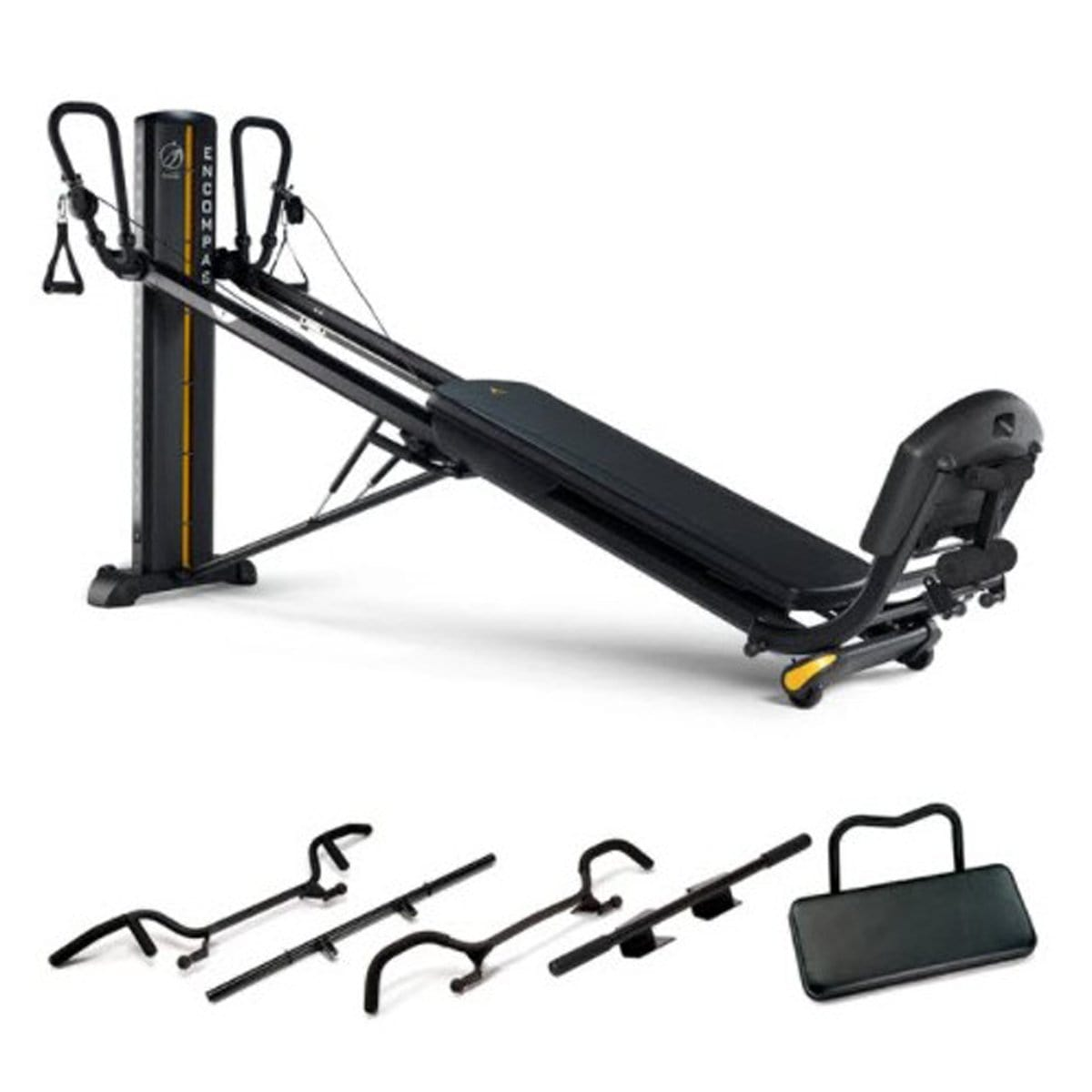 Total Gym ELEVATE Encompass Abdominal Core Machine Strength Package - Barbell Flex