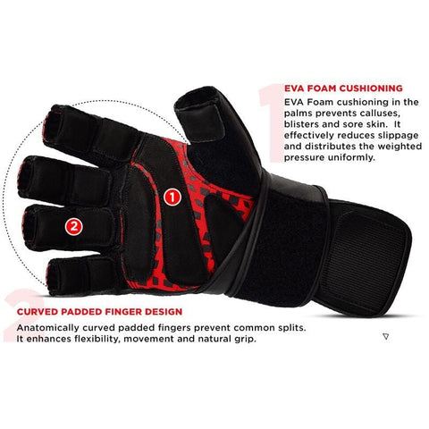 RDX L7 Leather Weight Lifting Heavy Duty Gym Gloves - Barbell Flex