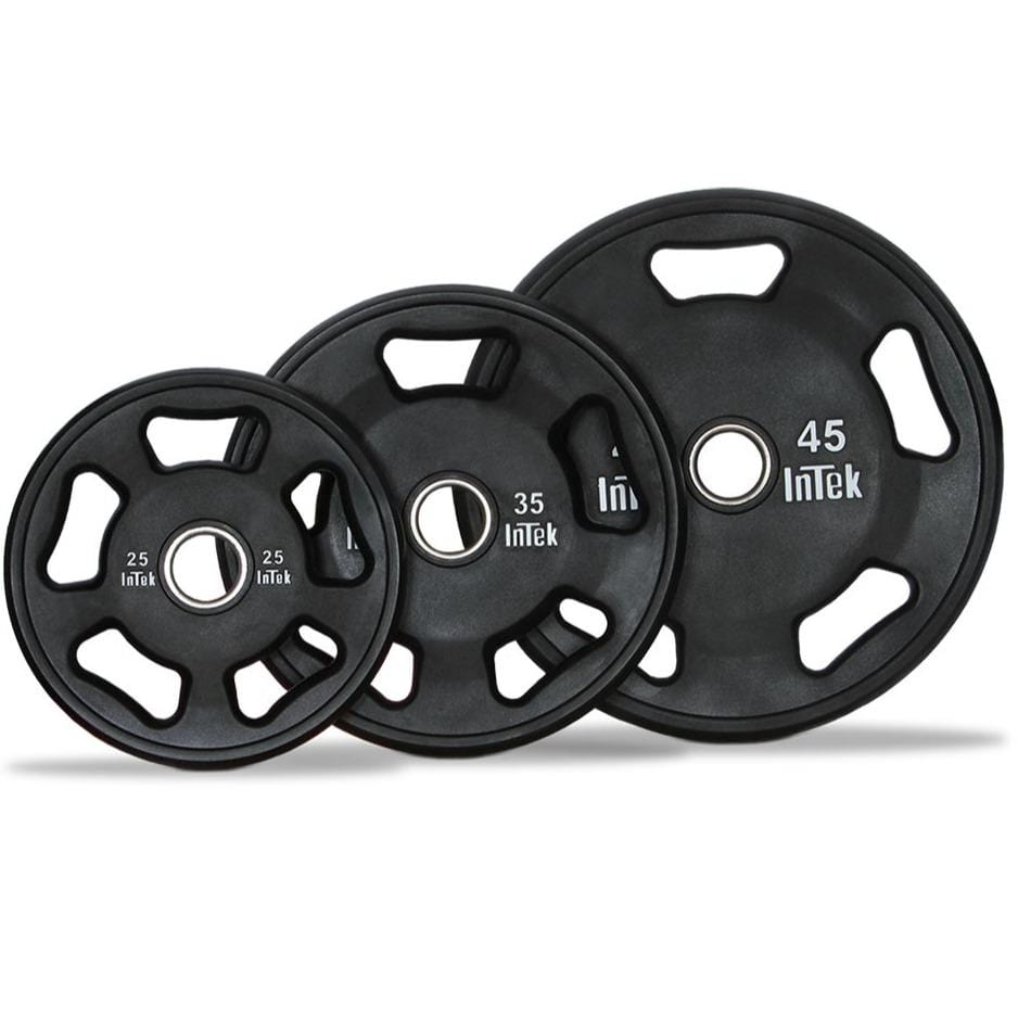 InTek Strength Armor Series Urethane Olympic 5-Grip Plate Pairs and Sets - Barbell Flex