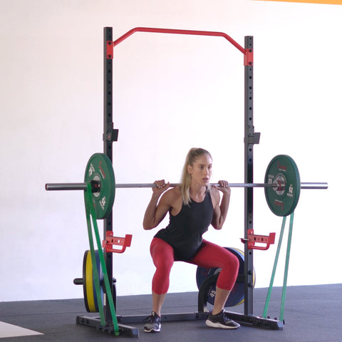 Sunny Health & Fitness Power Zone Squat Stand - Barbell Flex