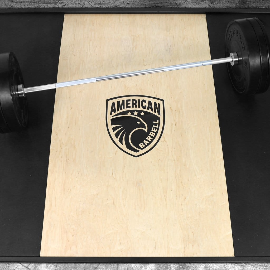 American Barbell Heavy Duty Olympic Gym Floor Platforms - Barbell Flex