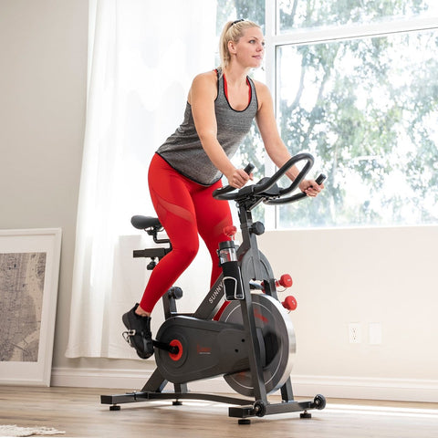 Sunny Health & Fitness Pro II Magnetic Indoor Cycling Bike - Barbell Flex
