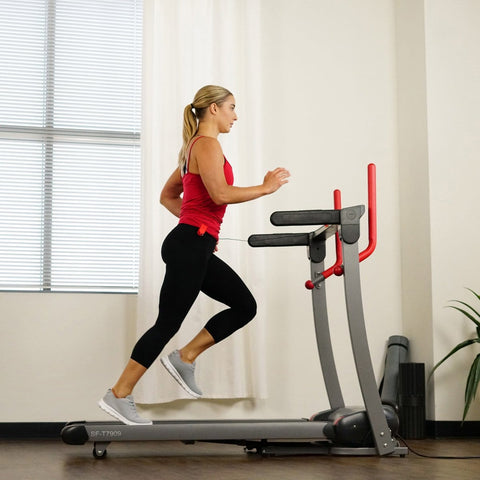 Sunny Health & Fitness Incline Treadmill with Bluetooth Speakers and USB Charging Function - Barbell Flex