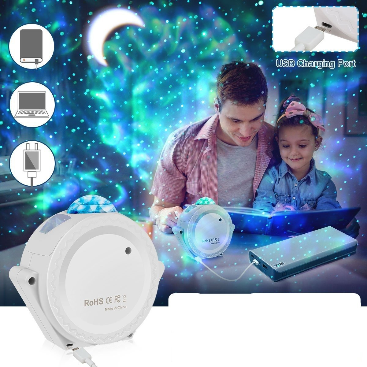 Galaxy Star Projector Light - SNAPPYFINDS.COM ™