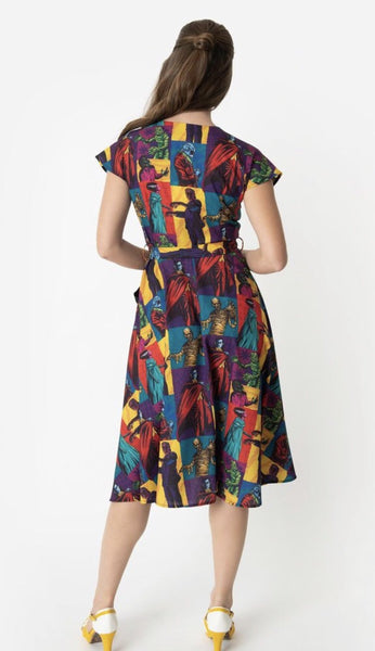 Unique Vintage Universal Monsters Monster Mania Hedda Swing Dress