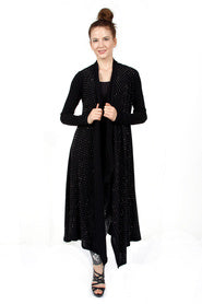 Long Sleeve Maxi Cardigan with all overstone detail
