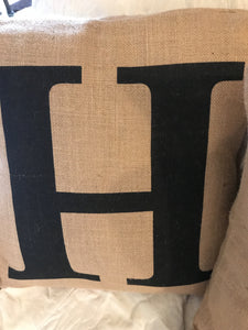 Handmade Burlap Pillow