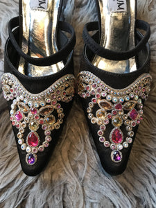 Platinum Beaded Mule
