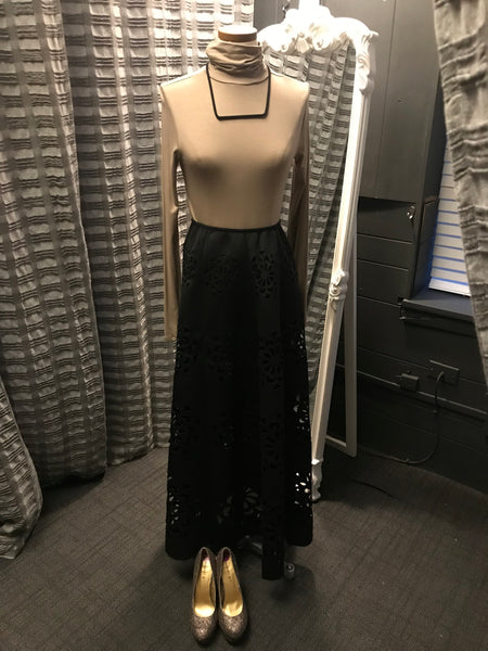 Laser Cut Maxi Skirt by Nancy Yang