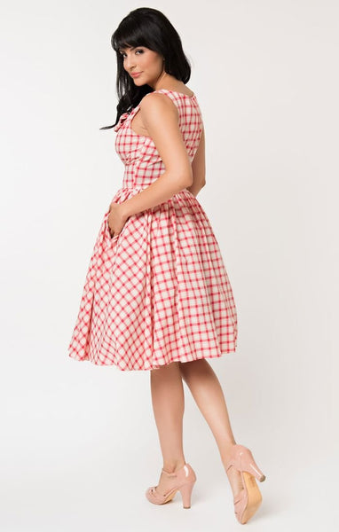 Unique Vintage Plaid Dress