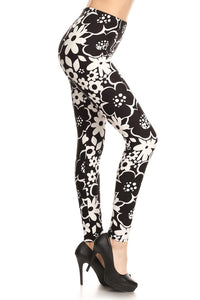 Black & White Flower print Leggings