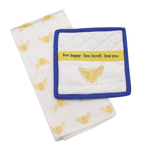 Bee Towel & Pot Holder Set