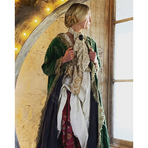Cotton Velvet Embroidered OLeary Coat in Oz