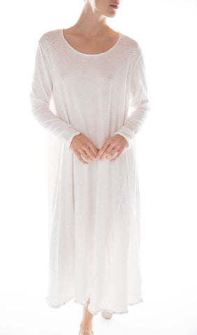 Cotton Jersey T Dress with Long Sleeves