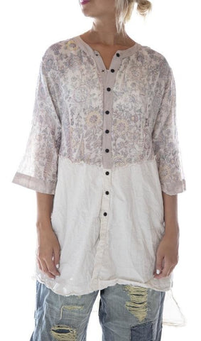 Cotton Twill Hand Block Print Sybeal Chemise