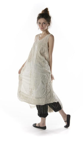 European Cotton Embroidered Layla Tank Dress