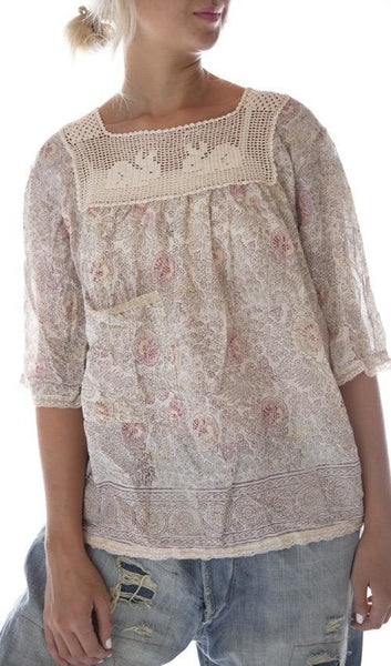 European Cotton Hand Block Print Eula Top