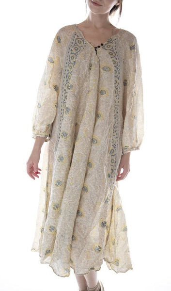 European Cotton Hand Block Print Naadja Dress