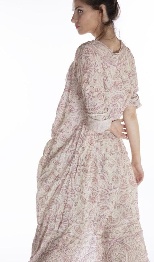 Magnolia Pearl European Cotton Hand Block Print Talulah Artist Smock Dress