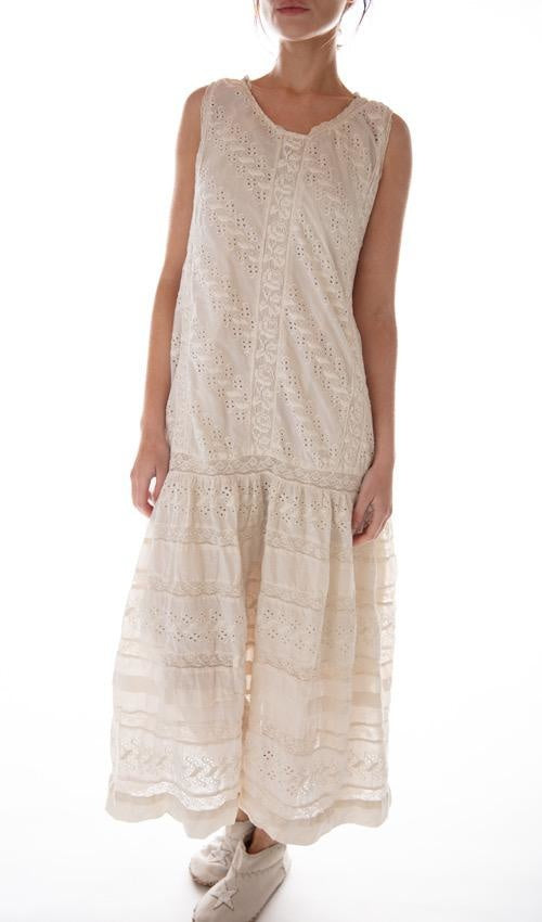 European Cotton Livia Eyelet Slip Dress