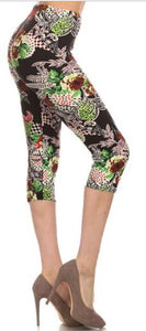 Cropped print leggings