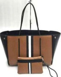 Haute Shore Tan & Black Handbag